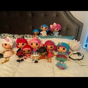 Lalaloopsy dolls lot